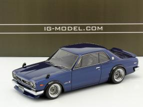 Nissan Skyline 2000 GT-R (KPGC10) blau 1:18 Ignition Model