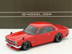 Nissan Skyline 2000 GT-R (KPGC10) rot 1:18 Ignition Model