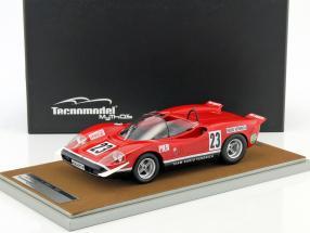 Abarth 2000 S #23 Martini Trophy Silverstone 1969 Swart 1:18 Tecnomodel