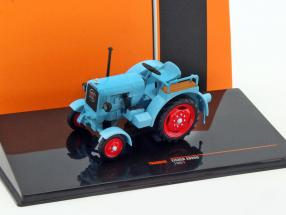 Eicher ED25II tractor year 1951 blue 1:43 Ixo