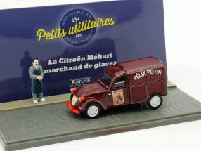 Citroen 2CV Lebensmittelhändler Felix Potin bordeaux 1:43 Atlas