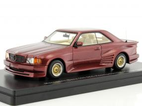 Mercedes-Benz 500 SEC König Specials Coupe year 1985 dark red metallic 1:43 Neo