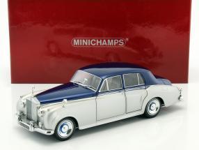 Rolls-Royce Silver Cloud II Baujahr 1960 silber / blau 1:18 Minichamps