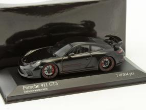 Porsche 911 (991) GT3 Baujahr 2016 tiefschwarz metallic 1:43 Minichamps