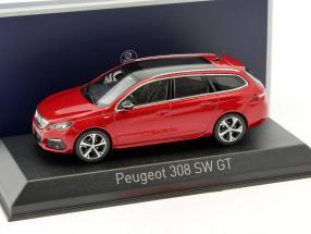 Peugeot 308 SW GT Baujahr 2017 rot 1:43 Norev