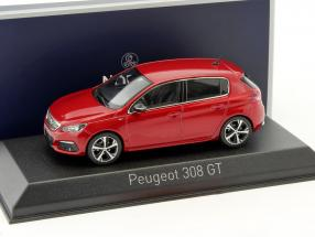 Peugeot 308 GT Baujahr 2017 rot 1:43 Norev