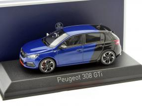 Peugeot 308 GTi Coupe Baujahr 2017 blau / schwarz 1:43 Norev