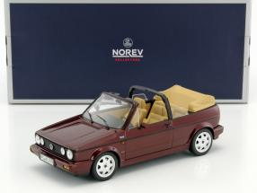 "Volkswagen VW Golf Cabriolet Classic Line ""Erdbeerkörbchen"" Baujahr 1992 dunkelrot 1:18 Norev"