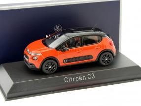 Citroen C3 Baujahr 2016 orange / schwarz 1:43 Norev