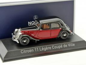 Citroen 11 Legere Coupe de Ville Baujahr 1935 dunkelrot / schwarz 1:43 Norev