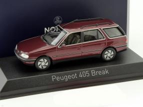 Peugeot 405 Break Baujahr 1991 alhambra rot 1:43 Norev