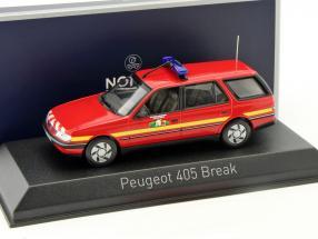Peugeot 405 Break Pompiers Baujahr 1991 rot 1:43 Norev