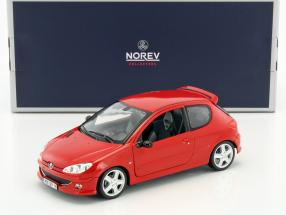Peugeot 206 RC Baujahr 2003 aden rot 1:18 Norev