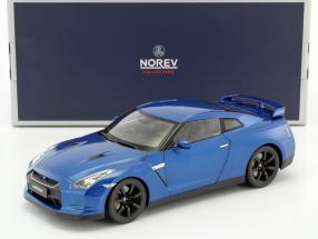 Nissan GTR R35 Baujahr 2008 blau metallic 1:18 Norev