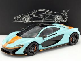 McLaren P1 Baujahr 2014 Gulf Version blau / orange 1:12 TrueScale