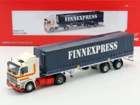 Scania 112 Planen-Sattelzug Finnexpress blau / weiß / rot 1:50 Herpa
