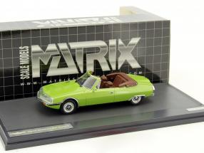 Citroen Henri Chapron SM Mylord Convertible green metallic 1:43 Matrix