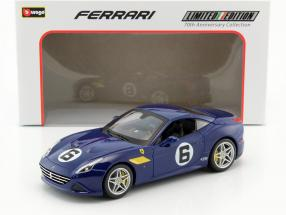 Ferrari California T #6 The Sunoco 70th Anniversary Collection blau 1:18 Bburago
