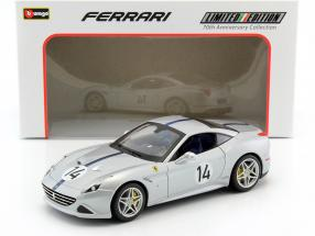 Ferrari California T #14 The Hot Rod 70th Anniversary Collection silber metallic 1:18 Bburago