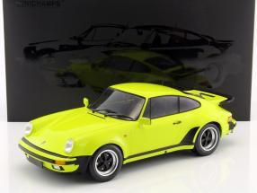 Porsche 911 (930) Turbo year 1977 acid green 1:12 Minichamps