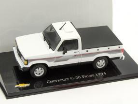 Chevrolet C-20 Pick-up year 1994 white / black 1:43 Altaya