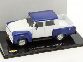 Chevrolet Alvorada Pick-up Baujahr 1962 blau / weiß 1:43 Altaya
