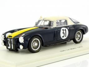 Lancia D20 #31 24h LeMans 1953 Manzon, Chiron 1:43 Spark