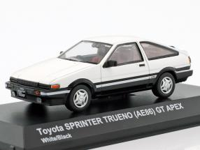 Toyota Sprinter Trueno (AE86) white / black 1:43 Kyosho