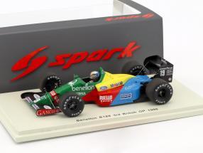Alessandro Nannini Benetton B188 #19 3rd Great Britain GP formula 1 1988 1:43 Spark