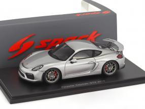Porsche Cayman GT4 year 2016 silver 1:43 Spark