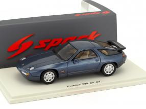 Porsche 928 S4 GT year 1990 dark blue 1:43 Spark