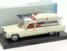 Cadillac S&S High Top Ambulance cream white 1:43 Neo
