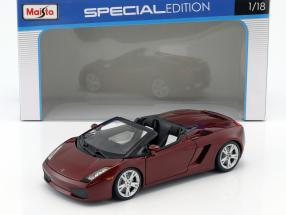 Lamborghini Gallardo Spyder dunkelrot 1:18 Maisto