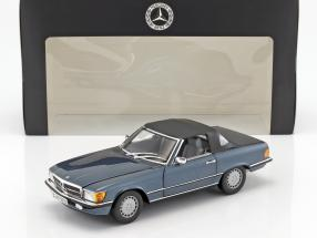 Mercedes-Benz 300 SL (R107) year 1985-89 lapis blue metallic 1:18 Norev