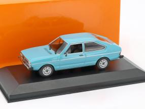 Volkswagen VW Passat Construction year 1975 blue 1:43 Minichamps