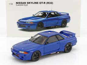 Nissan Skyline GT-R (R32) Plain Body Version blau 1:18 AUTOart