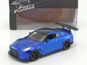 Brian's Nissan GT-R (R35) Year 2009 Fast and Furious blue 1:24 Jada Toys