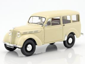 Renault Break 300 kg Juvaquatre year 1951 ivory 1:18 Norev
