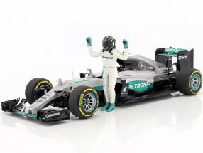 Nico Rosberg Mercedes F1 W07 Hybrid #6 World Champion formula 1 2016 With driver figure 1:18 Minichamps