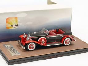Rolls-Royce Phantom II Brewster Newmarket Permanent Sport Sedan Open Construction year 1932 red 1:43 GLM