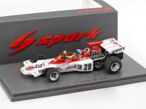 Dave Charlton Lotus 72D #29 British GP formula 1 1972 1:43 Spark