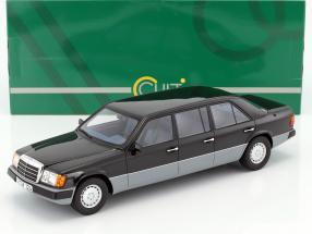 Mercedes-Benz E-Klasse W124 Lang Baujahr 1990 schwarz / grau 1:18 Cult Scale