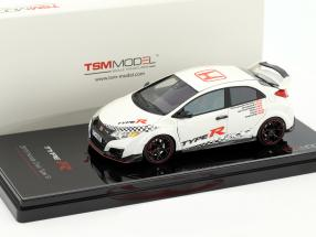 Honda Civic Type R Front-Wheel Drive Record Baujahr 2015 weiß 1:43 TrueScale