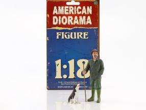 customer Patrick & dog 1:18 American Diorama