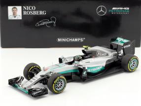 Nico Rosberg Mercedes F1 W07 Hybrid #6 Abu Dhabi GP Weltmeister Formel 1 2016 1:18 Minichamps