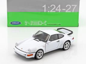 Porsche 964 Turbo Baujahr 2009 weiß 1:24 Welly
