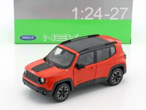 Jeep Renegade Trailhawk year 2016 orange / black 1:24 Welly