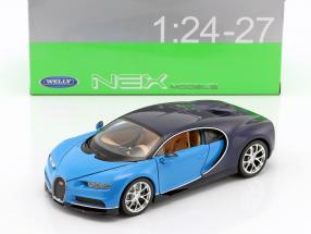 Bugatti Chiron year 2017 light blue / dark blue 1:24 Welly