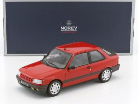 Peugeot 309 GTi Baujahr 1987 vallelunga rot 1:18 Norev