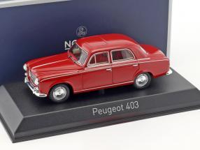 Peugeot 403 Baujahr 1963 rot 1:43 Norev